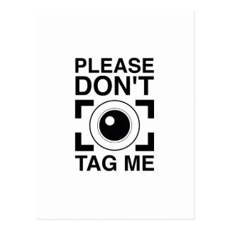 Please Don't Tag Me Postcard