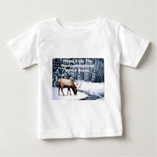 Please Enjoy This Nondenominational Winter Scene. Baby T-Shirt