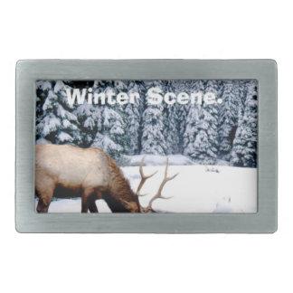 Please Enjoy This Nondenominational Winter Scene. Belt Buckle