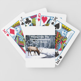 Please Enjoy This Nondenominational Winter Scene. Bicycle Playing Cards