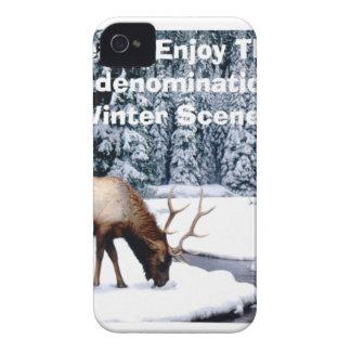 Please Enjoy This Nondenominational Winter Scene. Case-Mate iPhone 4 Case