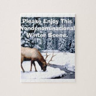 Please Enjoy This Nondenominational Winter Scene. Jigsaw Puzzle