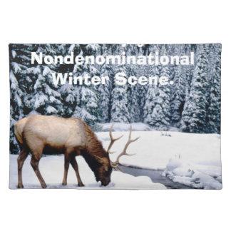 Please Enjoy This Nondenominational Winter Scene. Placemats