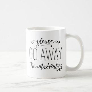 Please Go Away I'm Introverting Classic White Coffee Mug