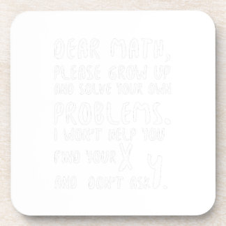 Please Grow Up And Solve Pi Day Math Gift Shirts Coaster