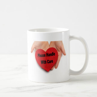 Please Handle With Care Valentine Hands Coffee Mug
