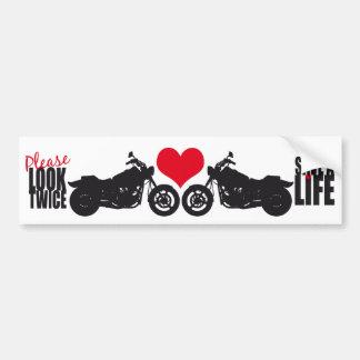 Please Look Twice • Save A Life Car Bumper Sticker