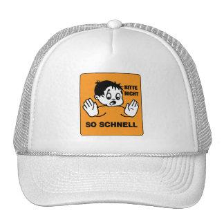 Please Not so Fast, Traffic Signs Austria Trucker Hat