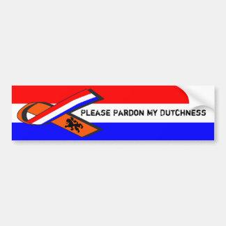 Please Pardon My Dutchness Bumper Sticker