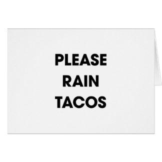 Please Rain Tacos 2 Card