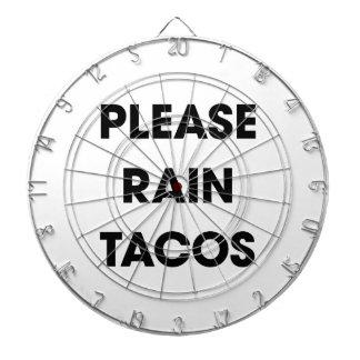 Please Rain Tacos 2 Dartboard With Darts