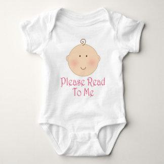 Please Read To Me Baby Girl Read Aloud Gift Baby Bodysuit