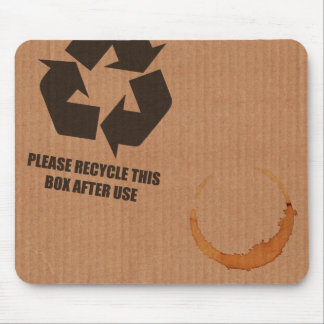 """please recycle box"" cardboard mouse mat"