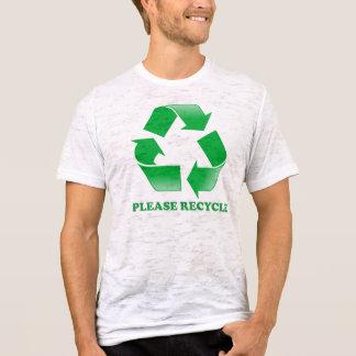 Please Recycle Burnout T-shirt. T-Shirt