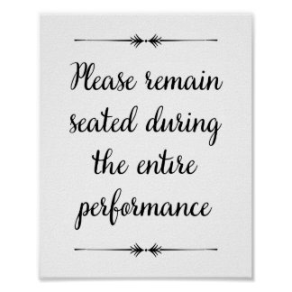 Please Remain Seated Bathroom Print