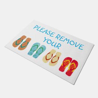 Please Remove Your Shoes Flip Flops Doormat