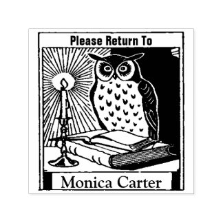 Please Return To  Book Bibliophile Rubber Stamp