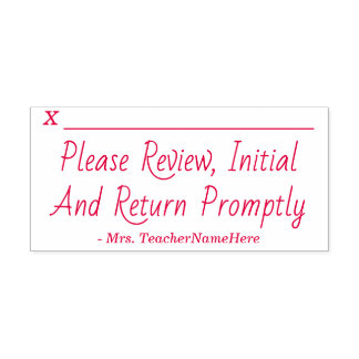 """""""Please Review, Initial And Return Promptly"""" Self-inking Stamp"""