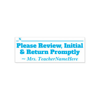 """""""Please Review, Initial & Return Promptly"""" Self-inking Stamp"""