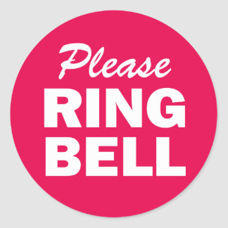Please Ring Bell sign Classic Round Sticker