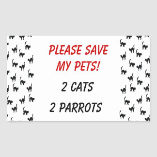 Please Save My Pets! Sticker