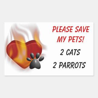 Please Save My Pets! Sticker