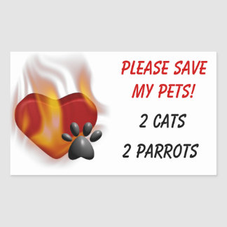 Please Save My Pets Stickers
