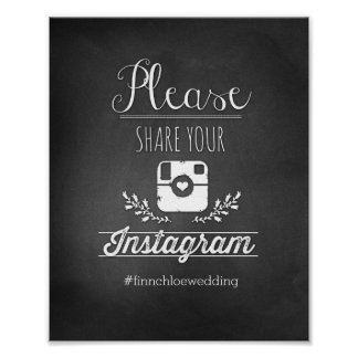 Please Share Your Instagram 8x10 Poster