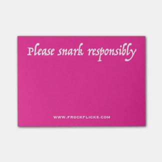 Please Snark Responsibly - Sticky Notes