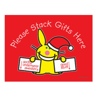 Please Stack Gifts Here Postcard