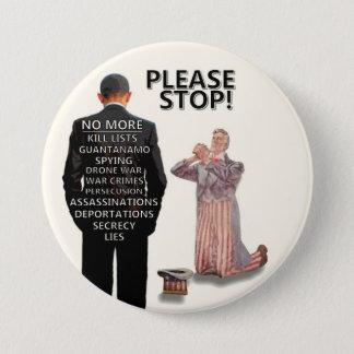 Please Stop! 3 Inch Round Button