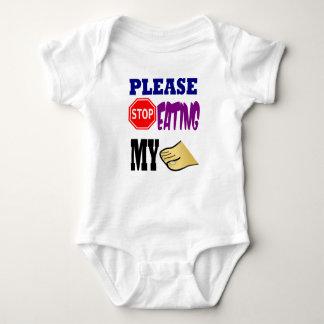 Please Stop Eating My Toes Baby Bodysuit