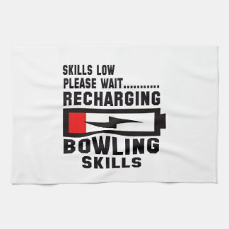 Please wait recharging Bowling skills Kitchen Towel