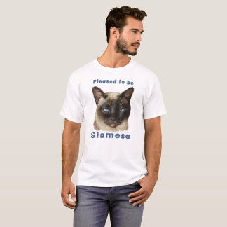 """Pleased to be Siamese"" cute colorful Siamese Cat T-Shirt"