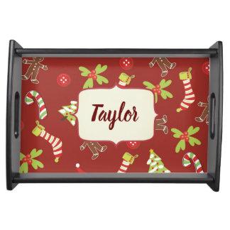 Pleasing Christmas Theme Serving Tray