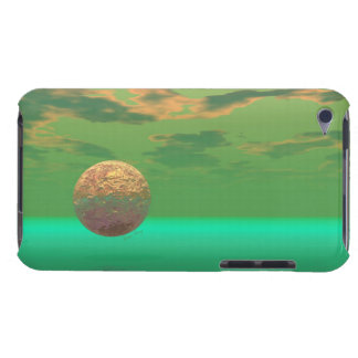 Pleasure, Abstract Green and Gold Completion iPod Touch Covers