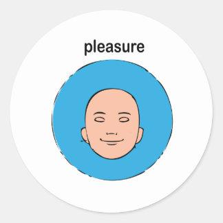 pleasure classic round sticker