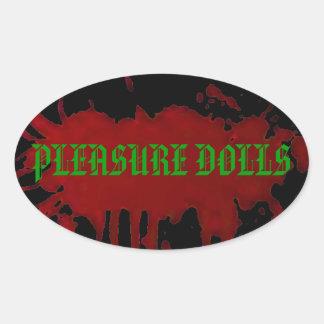 Pleasure Dolls Oval Sticker