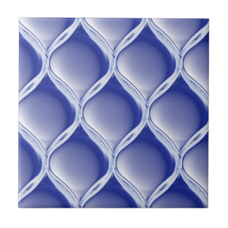 Pleated Cobalt Tile