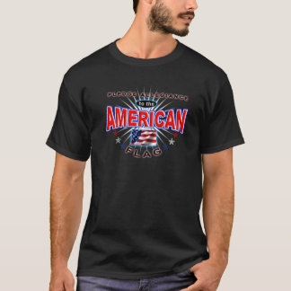 Pledge Allegiance American Patriot US Flag T-shirt
