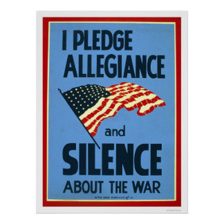 Pledge Allegiance War 1941 WPA Poster