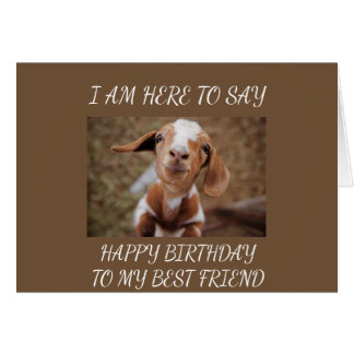 *PLEDGE* AND A *WISH* TO BEST FRIEND ON BIRTHDAY CARD