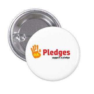 Pledge badge 1 inch round button