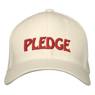 Pledge Hat Customizable Gear!! Embroidered Hats