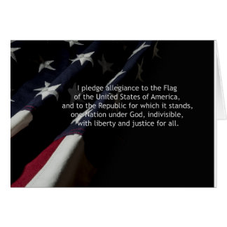 Pledge of allegiance card