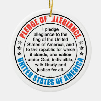 Pledge of Allegiance Ceramic Ornament