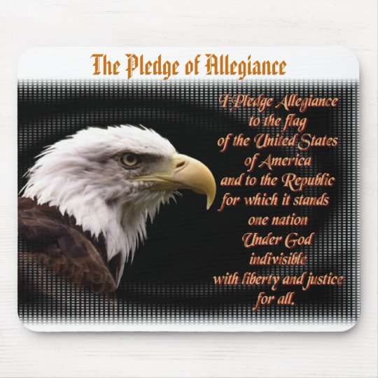 Pledge of Allegiance Mousepad