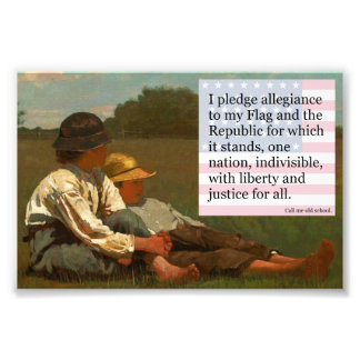pledge of allegiance photo print
