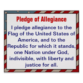 Pledge of Allegiance poster