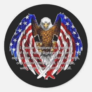 Pledge Of Allegiance Veterans Day Stickers